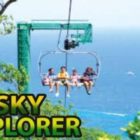 For the adventurers at heart embark on a thrilling Sky Explorer chairlift ride soaring 700 feet above the Jamaican rainforest, giving you the chance to explore the treetops above the Mystic Mountain in Ocho Rios, you will also enjoy the mountain breeze while getting an amazing view of the nearby Dunn's River Falls from high above.