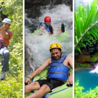 Are you ready for the most unforgettable Zip Line and River Tubing adventure?We will pick you up from your hotel or cruise ship pier and take you on the adventure of a lifetime up in the hills of Jamaica.You will receive instructions and a safety briefing,on the first Zip-line you will be whisk 500 feet across a tropical valley from a platform over 300ft high.